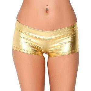 Gold Booty Shorts Size L ( runs small)